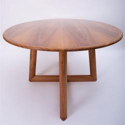 beautiful round hardwood dining table by petrel furniture