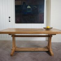 hardwod refectory style dining table by petrel furniture