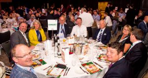 the combilift table at 2019 ttj awards with all of us