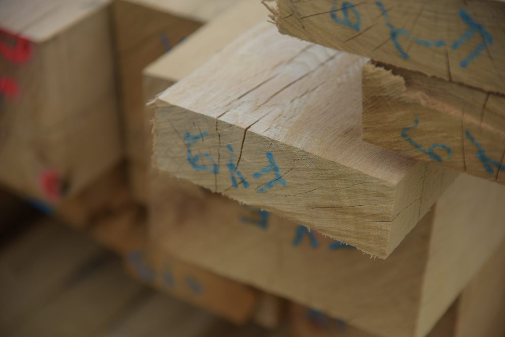 fresh sawn oak custom cutting list for timber framing