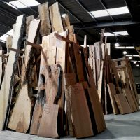 homegrown hardwoods fill the racks ready for the 50% off sale in January 2020