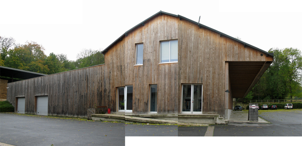 Mont D'Hor Head office timber building with offices warehouse and shop