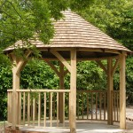 Timber Mend Oak frame gazebo with shingle roof