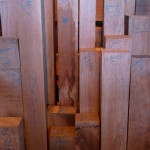 the timber rack, jam packed with small pieces of wood