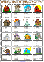 Types Of Houses Esl Vocabulary Worksheets
