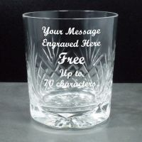 Crystal Whisky Glass Personalised Engraved ref CW01
