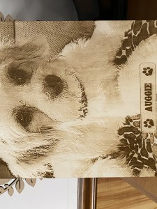 Laser Engraved Pet Photo on wood plaque