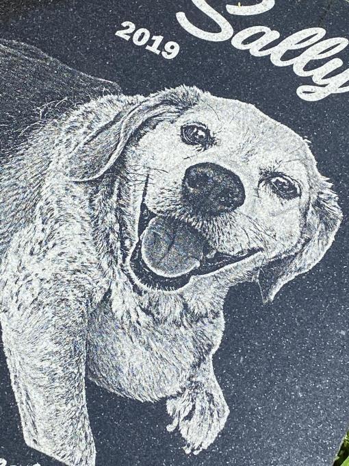 Granite Pet Memorial Photo Engraved