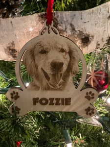 Laser Engraved Pet Photo Christmas Ornament