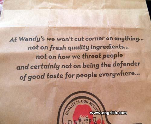 Wendy's threats