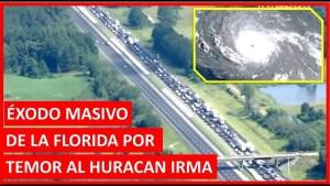 Huracan Irma llega a la Florida, exodo masivo por temor