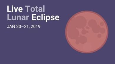 Photo of Transmisión en vivo del Eclipse Lunar, Enero 2019