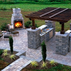 Summer Kitchens Outdoor Kitchen With Freestanding Grill And Idea Photo Gallery Enhance
