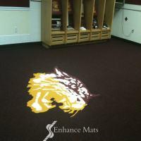Logo Locker Room Carpet / Custom Carpet  Enhance Mats