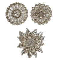 Silver Leaf Hanging Floral Wall Art
