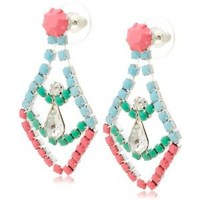 Mint Green and Pastel Blue Earrings  eniGma Shopping