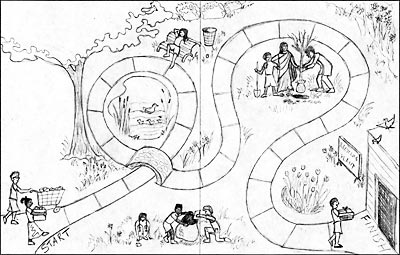 Dolphin Log Magazine: Earth Day Board Game Sketches