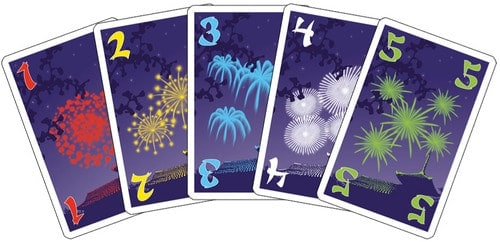 Hanabi Cards, 5 suits, 5 ranks