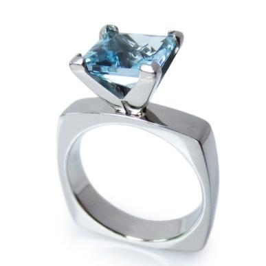 Princess cut Engagement ring by Eniko Kallay