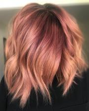 rose gold hair design fit