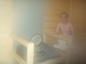 ちょいとハレンチ?ですが、フィンランドでサウナタイムの時の写真。