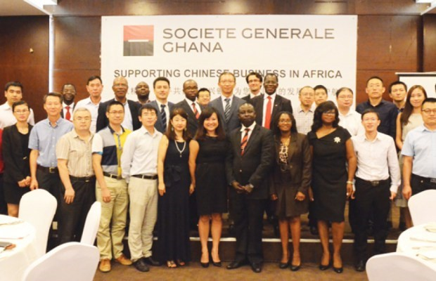 Société Generale Ghana Hold Chinese Desk Business Banquet