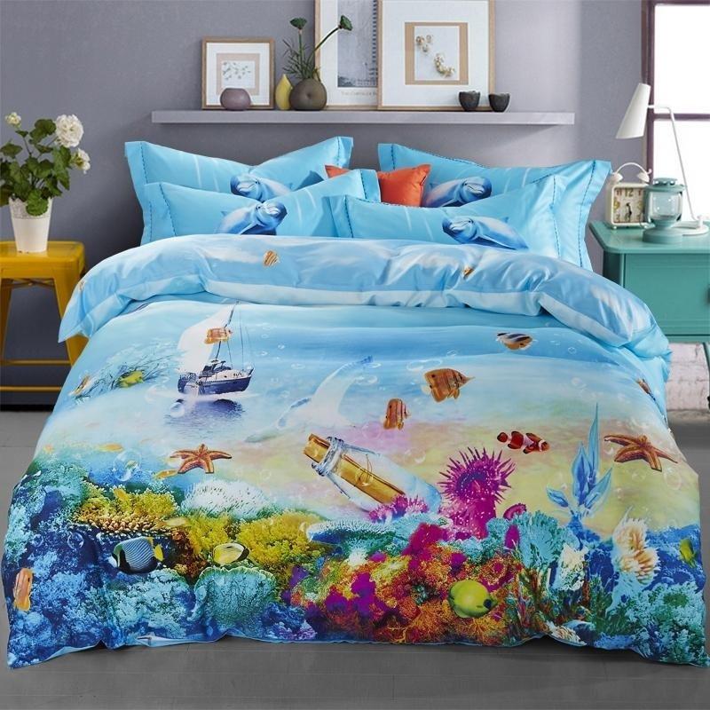 Ocean Blue Tropical Marine Life Bright Colorful Undersea