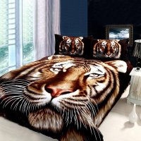 Black Brown and White Animal Themed Tiger Print Jungle ...