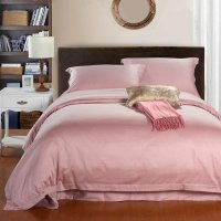 Solid Pink Pure Color Simply Chic Egyptian Cotton Full ...