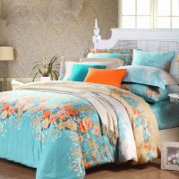 Electric Blue Orange and White Spring Garden Images ...