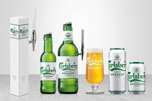 """Carlsberg Smooth Draught unveils """"New Look, Same Smooth Brew"""" across its refreshed packaging and is now available on tap for a better drinking experience"""