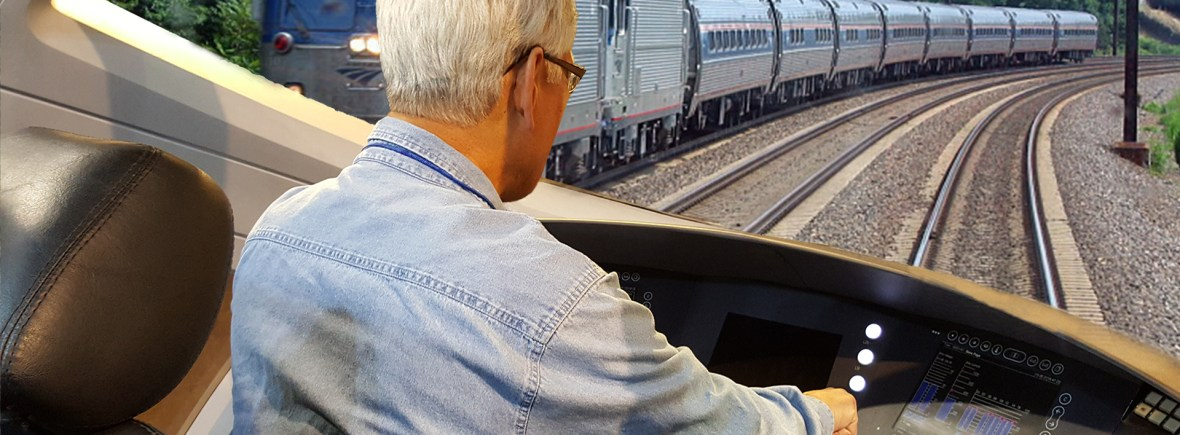 Jim Steering a High Speed Train