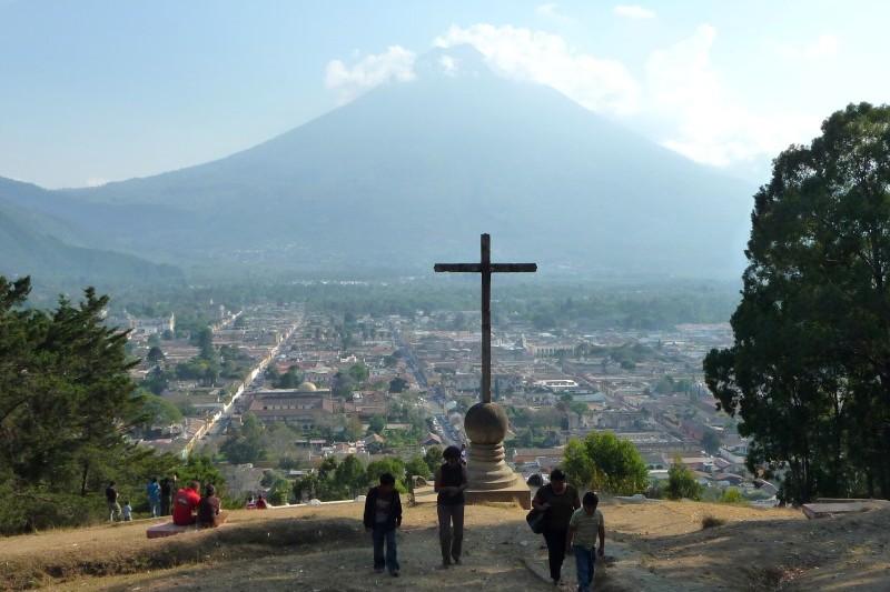 Climbing Agua Volcano