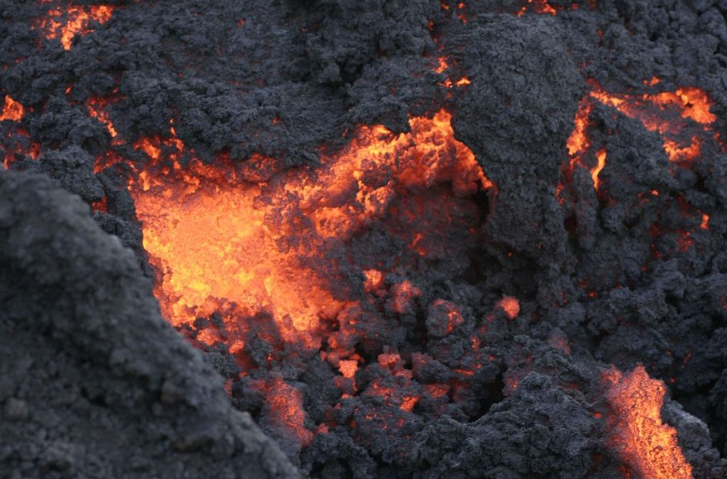 Lava on Pacaya Volcano