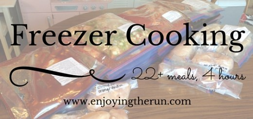 Freezer cooking, 22+ meals, 4 hours