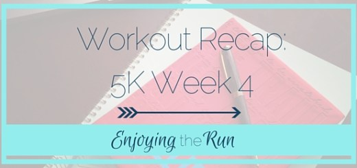 Workout Recap: 5K Week 4 | Enjoying the Run