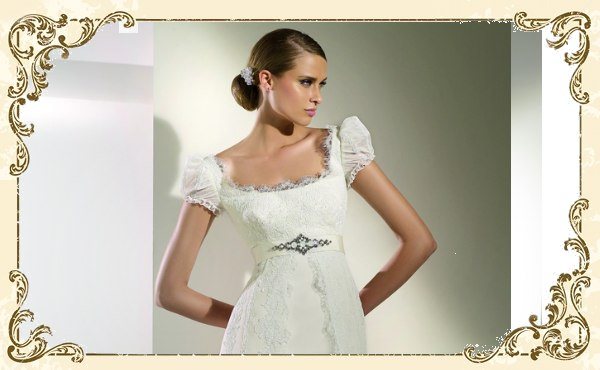 Romantik pur  Hochzeitskleider mit Bndern und Spitze