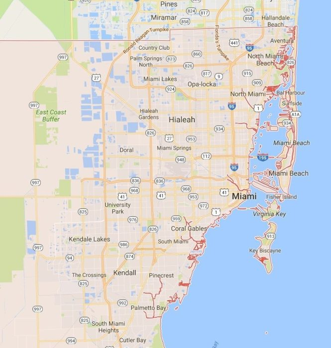 Mapa do Miami Dade County - Google Maps