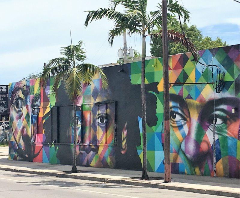 Mural do artista brasileiro Kobra da rua principal de Wynwood!