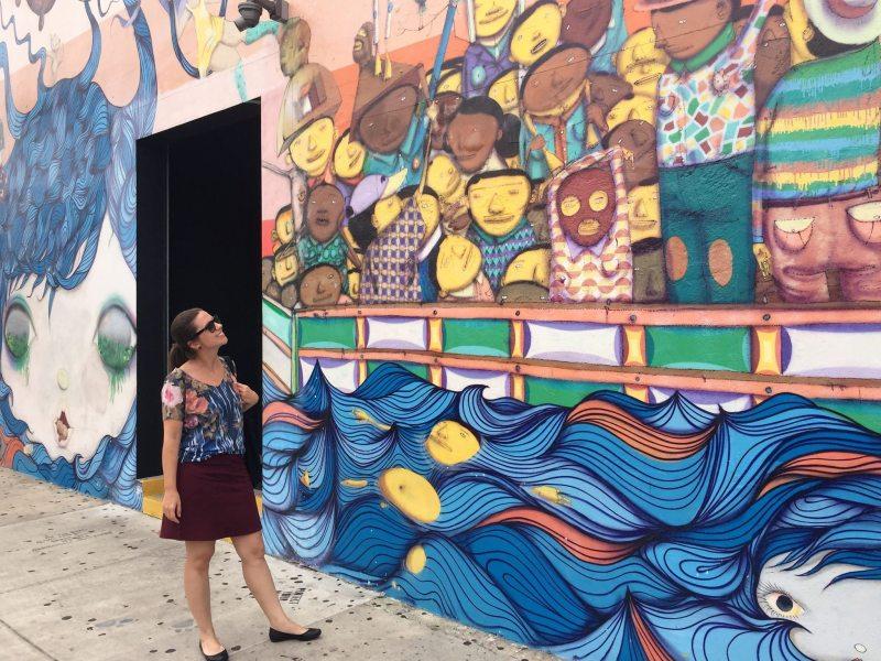 Mural dos brasileiros Os Gêmeos em Wynwood