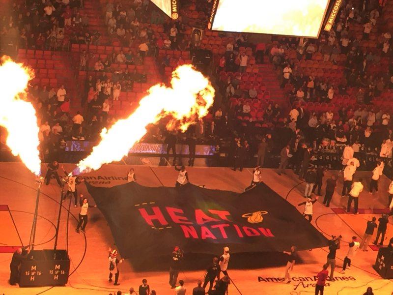 Apresentação dos jogadores do Miami Heat em partida da última NBA!