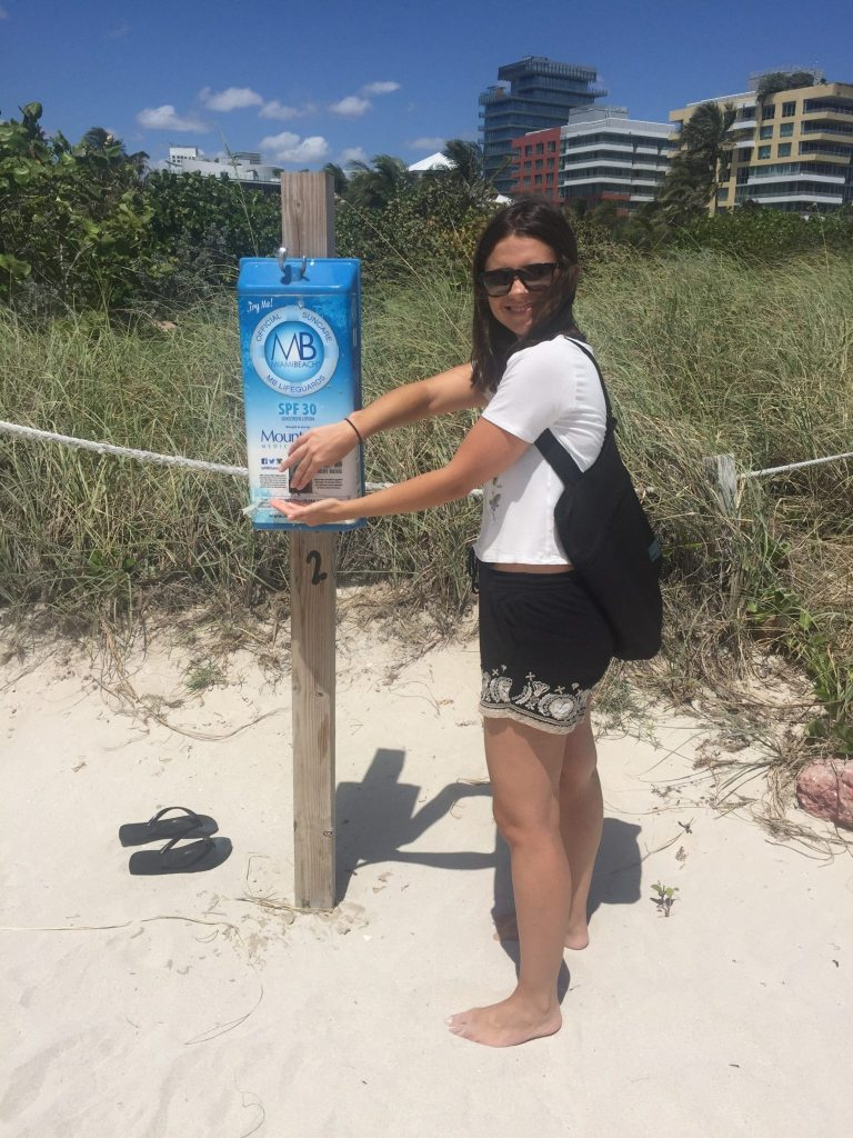 Protetor solar gratuito em Miami Beach - Enjoy Miami