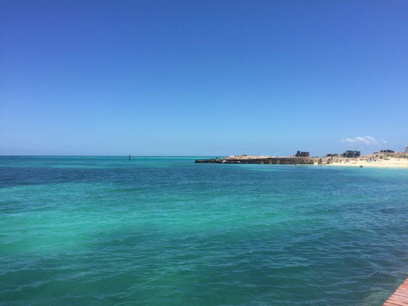 Águas de Dry Tortugas. Foto: Enjoy Miami