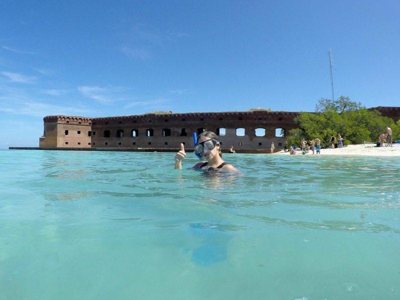 Snorkel em uma das áreas do Dry Tortugas. Foto: Enjoy Miami
