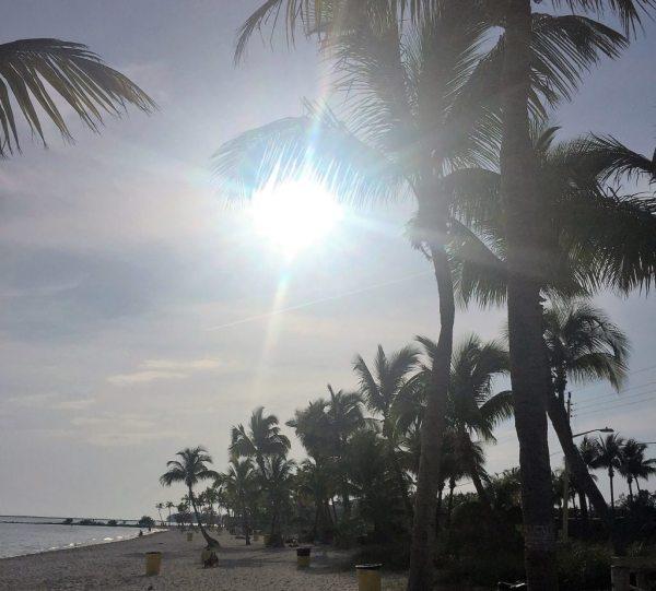 Smathers Beach. Praia onde fica parte dos hotéis beira-mar de Key West.