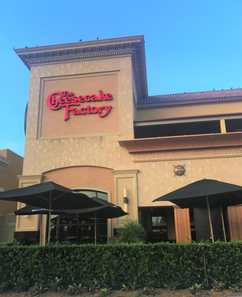 Cheesecake Factory no Dolphin Mall.