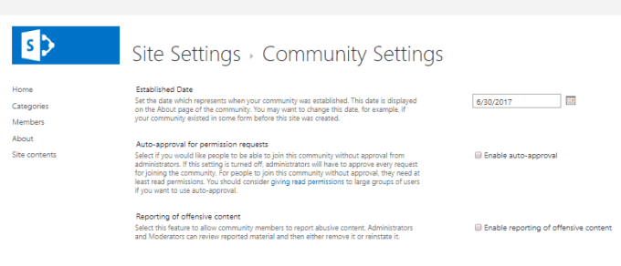 Overview Of Community Site Template In Sharepoint Online Office 365 Enjoysharepoint