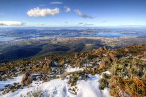 Yes, that's Hobart, as seen from Mount Wellington. Photo: Adam Selwood