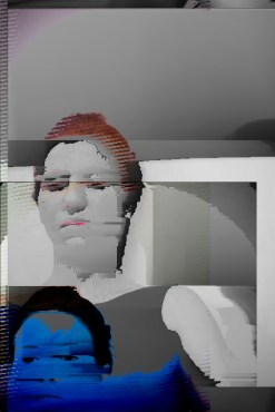 glitch art protrait