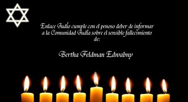 Nos unimos a la pena que embarga a la familia Feldman – Edwabny